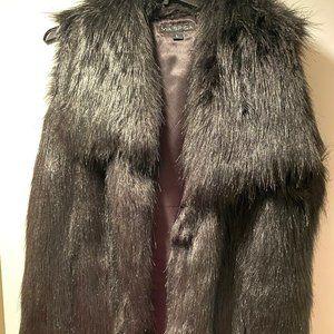 Via Spiga Faux Fur Vest in black